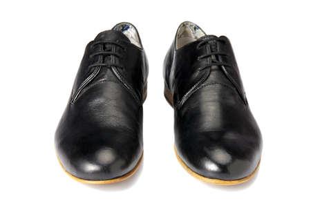 Studio shot of black shoes  Pair of men photo