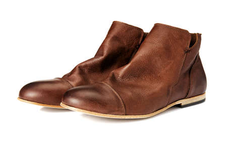 A pair of Brown Boots  Studio shot of leather shoes