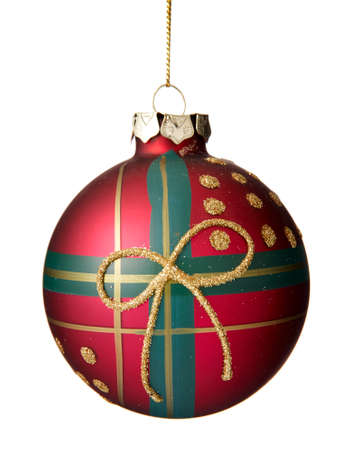 Christmas decoration. Christmas ball on white background. photo