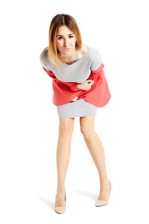 full length portrait: Full length portrait of cheerful woman looking to the camera.