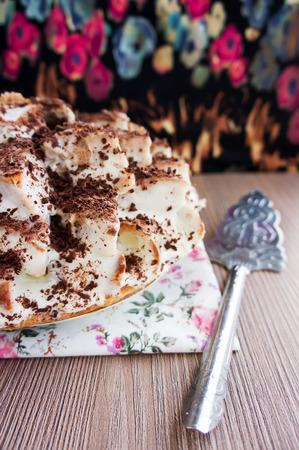 homemade cake: Homemade cake curly pinscher