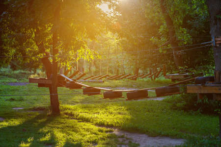 Rope Park in sunlight day