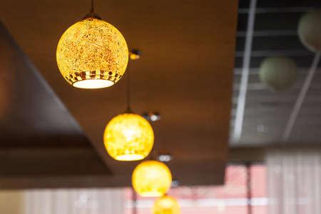 Yellow interior lamp 免版税图像