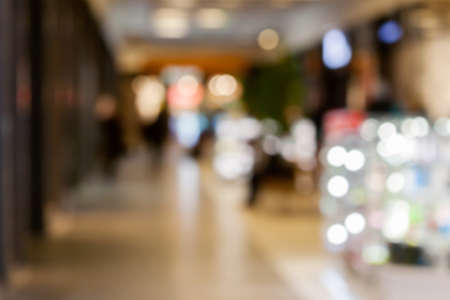 Shopping mall blured background Stock Photo