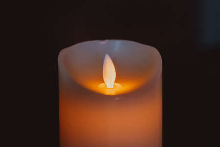 Beautiful decor candle in interior