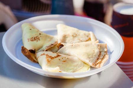 Sweet pancakes - ukrainian dish Stock fotó