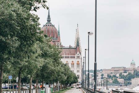 Parliament. Panorama of Budapest, Hungary 版權商用圖片