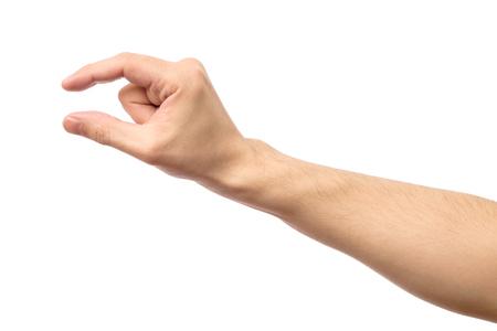사람의 손에 보이지 않는 항목을 측정합니다. 화이트 절연