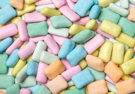 Abstract close up chewing gum background