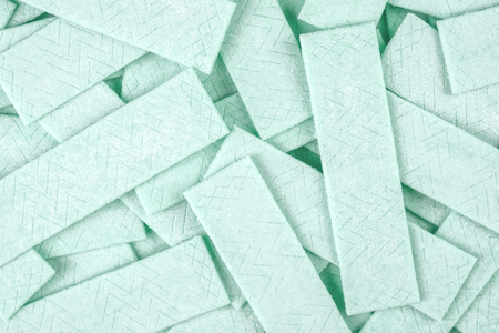 Textured background made out of many chewing gum plates Stockfoto