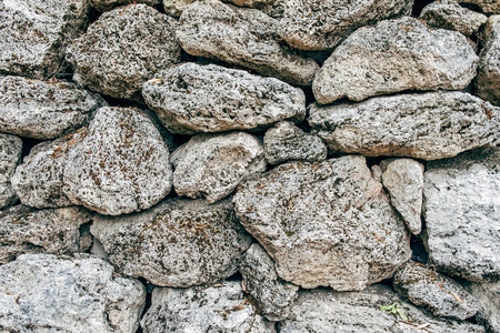 Old gray stone wall textures background