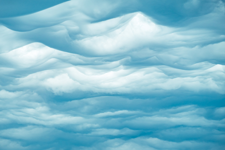 Beautiful clouds on blue sky background. Nature weather, cloud blue sky