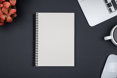 Blank writing pad for ideas and inspiration on colored background