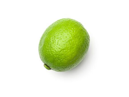 Lime isolated on white background. Top view 版權商用圖片