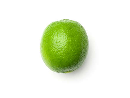 Lime isolated on white background. Top view 写真素材
