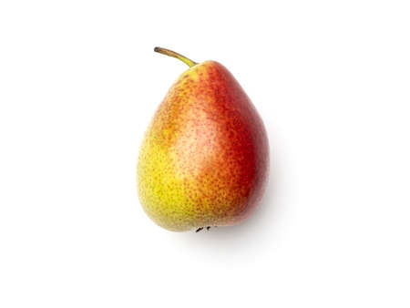 Pear isolated on white background. Directly above. Top view