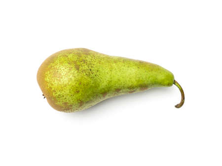 Pear isolated on white background. Directly above. Flat lay 写真素材