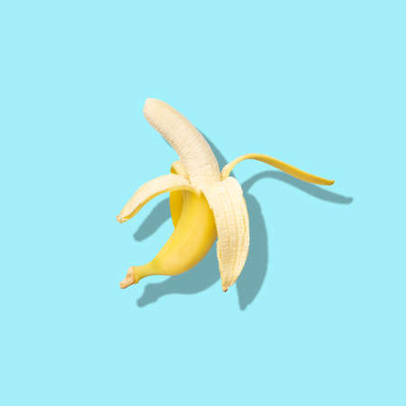 Layout of banana. Creative food concept. Flat lay. Top view