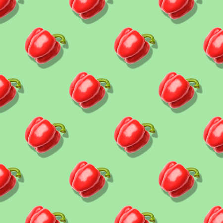 Seamless pattern with pepper. Abstract background. Top view