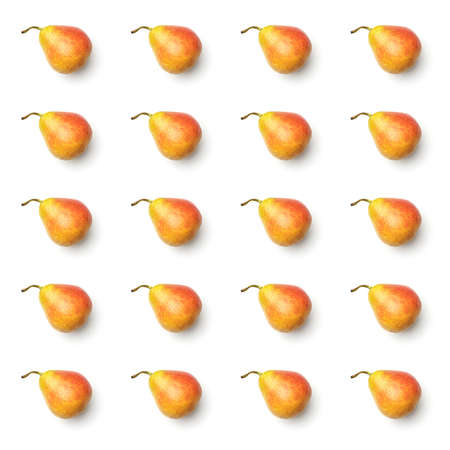 Pattern with pear. Abstract background. Pear on the white background