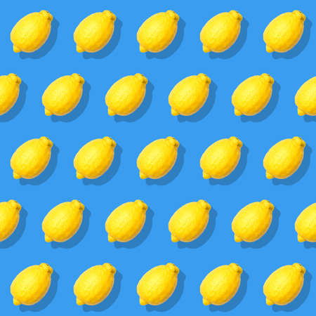 Seamless pattern with lemon. Abstract background. Top view