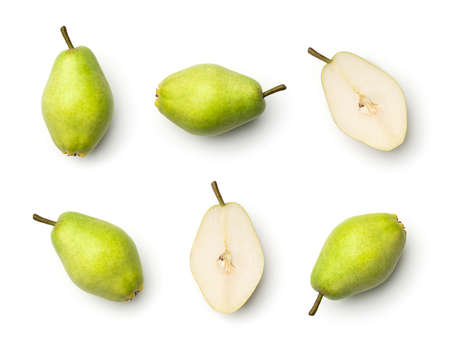 Collection of pears isolated on white background Stock Photo