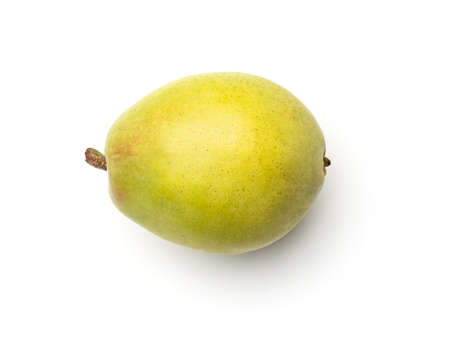 Pear isolated on white background. Top view Foto de archivo