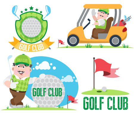 golf man: Golf club, golf Illustration