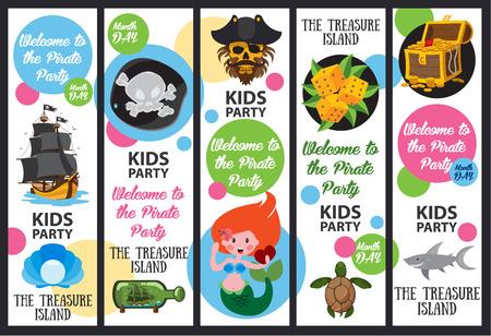 Piratenpartei, Piratengeschichte Vektorgrafik