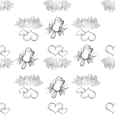 compliments: White Gray - seamless vector pattern