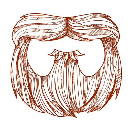 barber: Beard and mustache in a cartoon style.