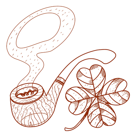the attribute: Pipe with four-leaf clover.