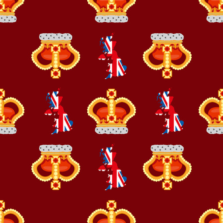 burgundy background: Seamless pattern with crown monarch to the noble burgundy background. Illustration