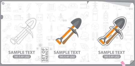 pickaxe: Mining tools, shovel and pickaxe logo
