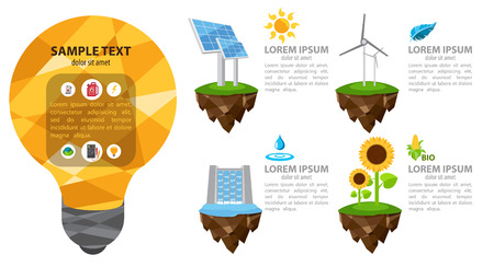 water concept: The energy infographic, modern infographic template, alternative power sources, energetic