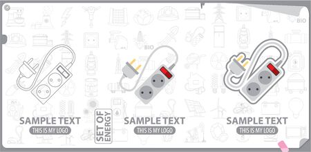 energetics: Electrical plug and socket logo, energy, energetics