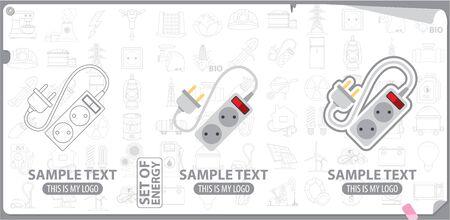 electrical plug: Electrical plug and socket logo, energy, energetics