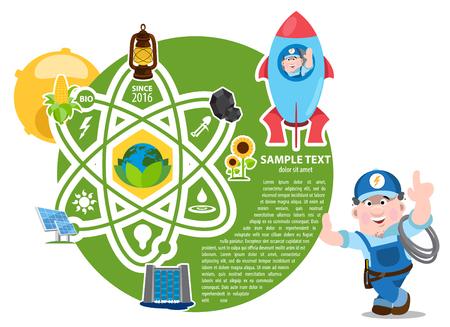 energetics: Energetic industry infographic, electricity industry infographic