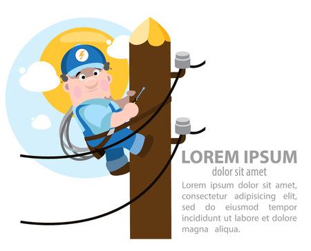 energetics: Infographics energetics, electrician