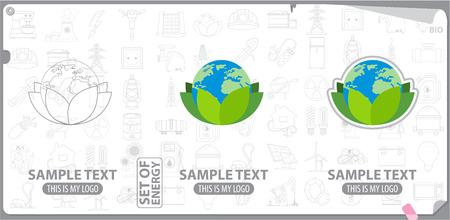 energetics: Ecology and save world logo, bio, energetics