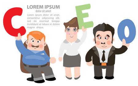 relaciones humanas: CEO infograf�a, las relaciones humanas corporativos, la gesti�n Vectores
