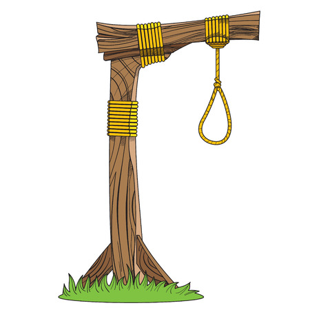 attribute: Gallows. Sketch device for hanging. Objects of medieval life.