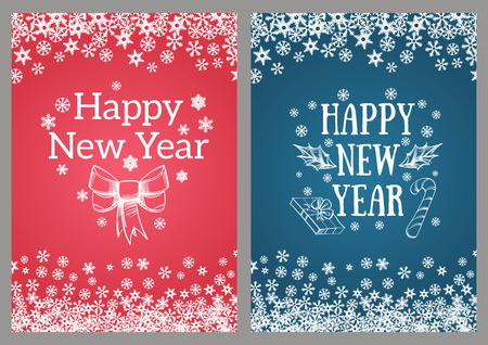 happy new year template for greeting cards inviations posters and more stock