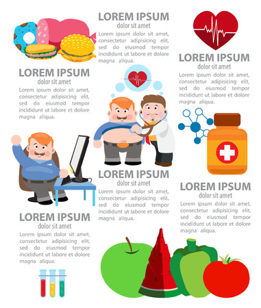 Nutrition infographics, healthy food, healthy lifestyle. Vector illustration