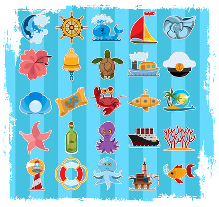 Things related to the voyage Stock Vector - 94225591