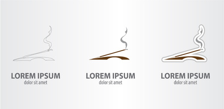 Incense stick logo.