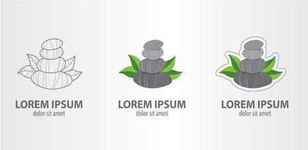 Stones spa logo Ilustrace
