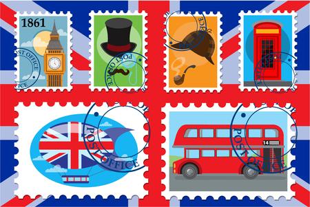 Vector color uk postage stamp, England.