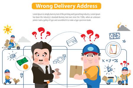 Mauvaise adresse de livraison Vecteurs