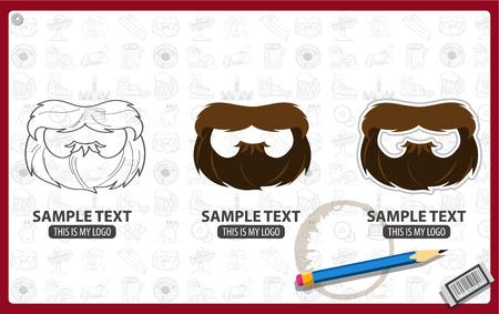 Vector beard Illustration